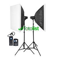 Набор студийного света Godox FST PHOTO EG-180KA IP33 KIT-50х70-2, 2х180 Дж + радиосинхронизатор RT-16