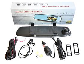 Відеореєстратор-дзеркало заднього виду VEHICLE BLACKBOX на 2 камери DVR Full HD
