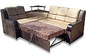 Кутовий Диван Мікс (Амелія беж + браун) диван з нішею для білизни, фото 2
