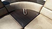 Кутовий Диван Мікс (Амелія беж + браун) диван з нішею для білизни, фото 3