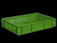 Ящик пластиковый 600х400х110 зелений втор.