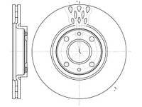 Тормозной диск передний FIAT 500(2007г-),PUNTO (188)(1999г-),CITROËN NEMO (2009г-),пр-во ABE C3F015ABE
