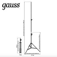 Gauss - Тренога кольцевого светильника 68-208 см, цвет чёрный