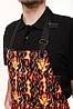 Черная мужская рубашка поло с коротким рукавом - Фото