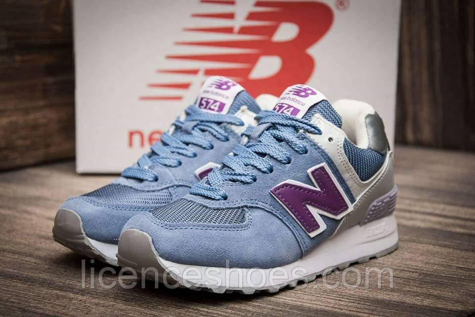 Подростковые кроссовки New Balance 574 Vintage Blue / Grey / Purple