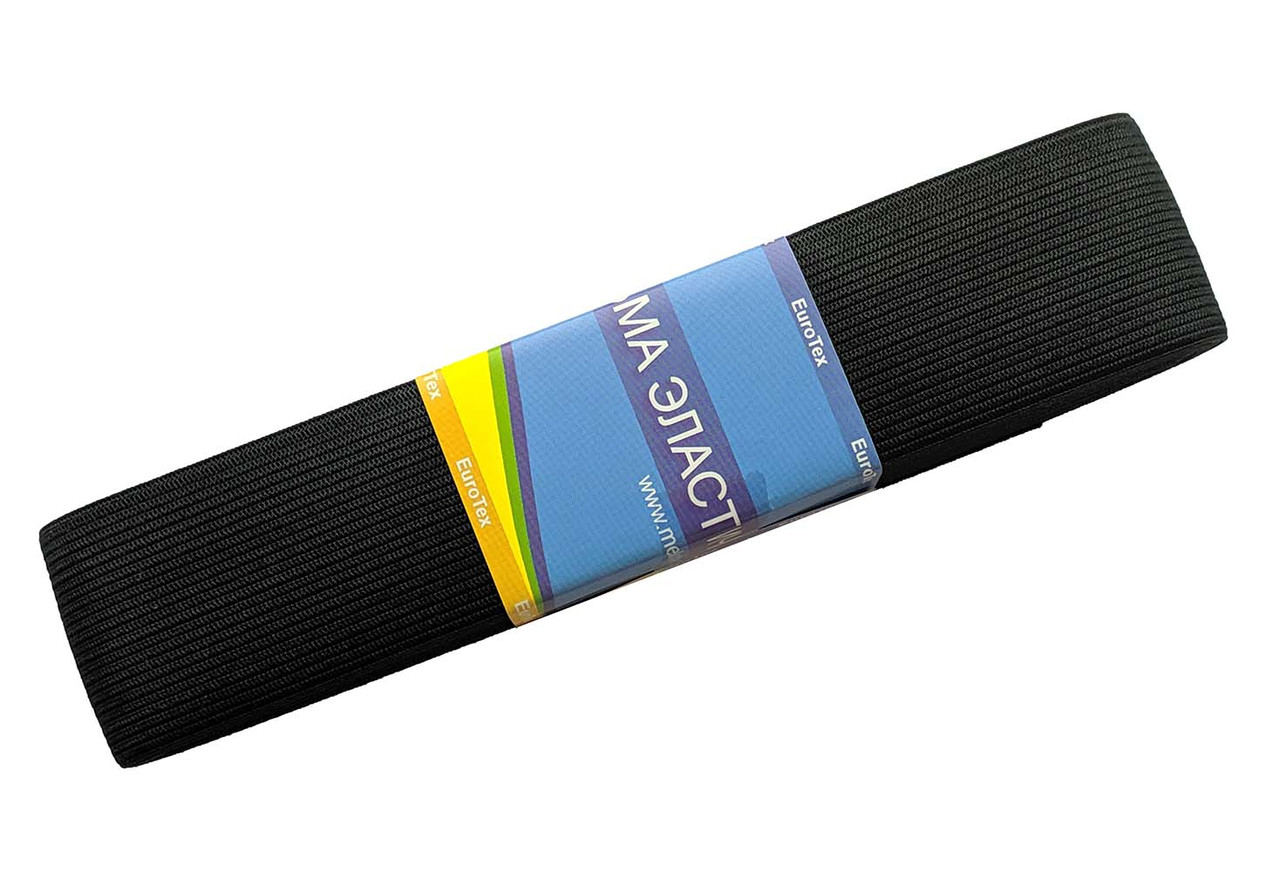 Резинка для одежды черная 4см/5м
