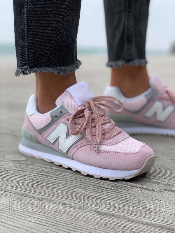 Жіночі кросівки New Balance 574 New Pink / White / Grey