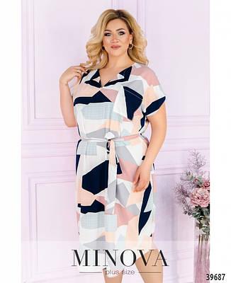 Женское повседневное  летнее платье миди размеры:50-64, фото 2
