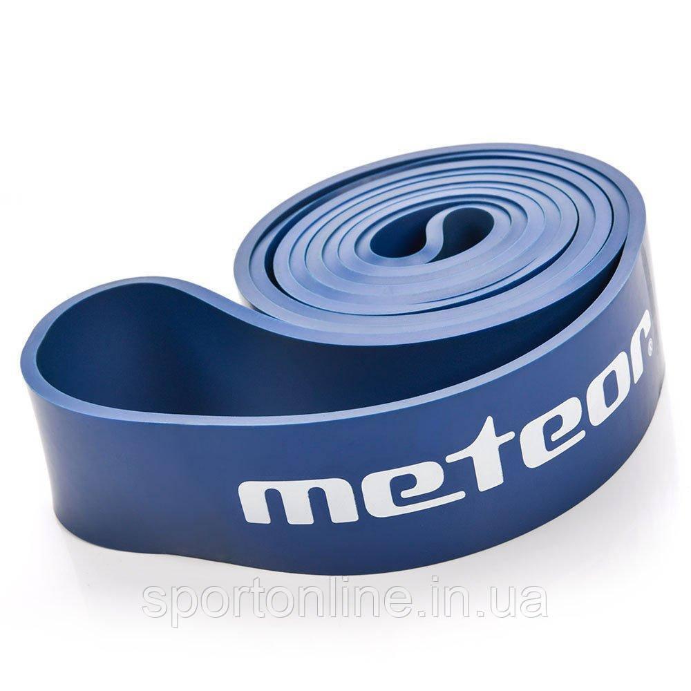 Тренажер-эспандер ленточный Meteor Rubber Band, heavy, нагрузка 32-37 кг, синий