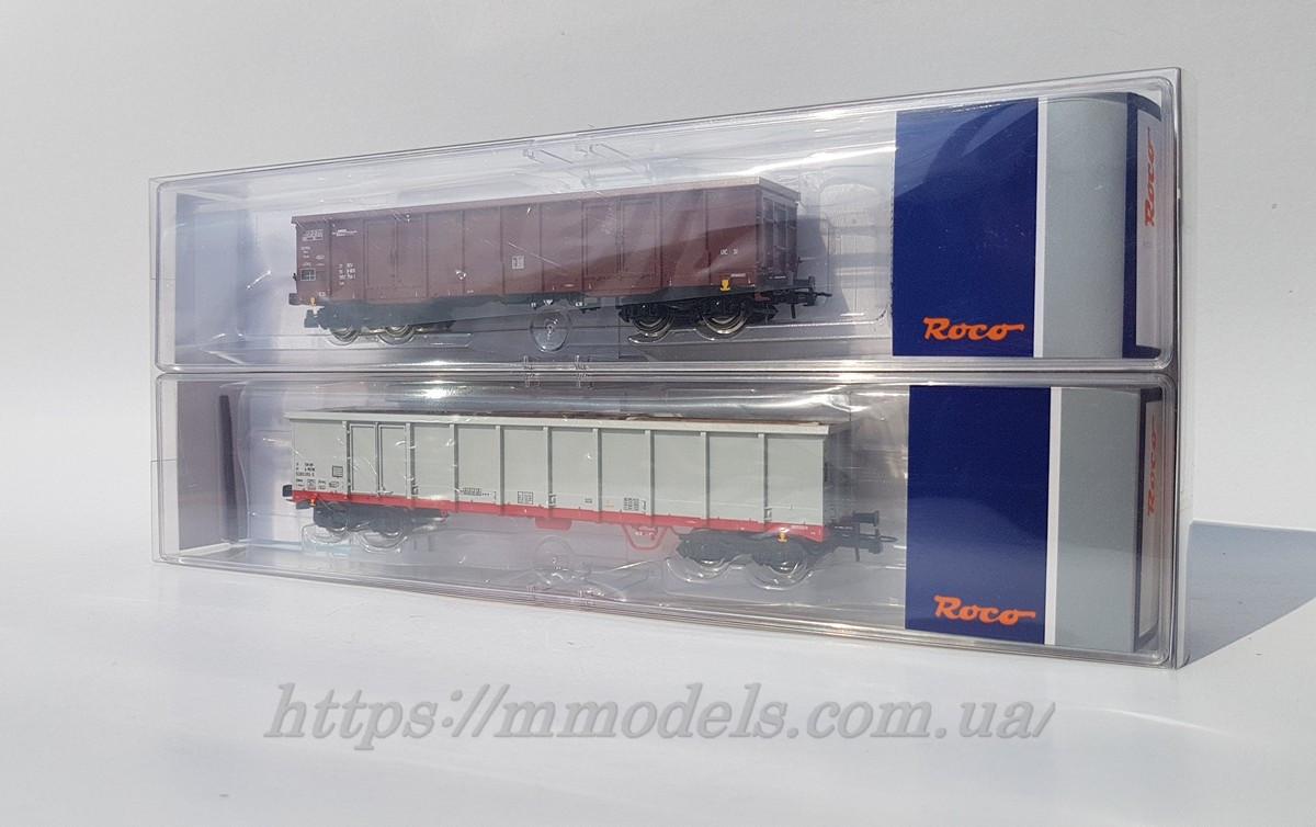Roco 76076 комплект из 2х грузовых вагонов, принадлежность ÖBB, масштаба 1/87, Н0