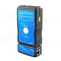 Кабельный тестер M726AT LAN RJ45 RJ11 USB  - черный + синий kys0411, фото 2