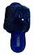 Тапочки женские Белста синие с жемчужиной 37 размер, фото 2