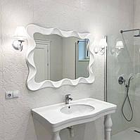 Зеркало в золоте в ванную/прихожую White Wave