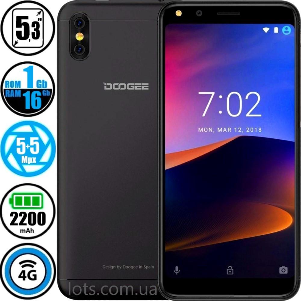 Смартфон Doogee X53 (1/16Gb) Black + Чехол в Подарок