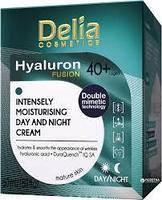 Крем для лица Delia Cosmetics HYALURON Fusion 40+ дневной-ночной с гиалуроновой кислотой 50 мл.