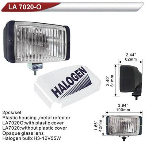 Фары дополнительные  DLAA 7020 OW/H3-12V-55W/100*42mm/крышка (LA 7020 OW), фото 2