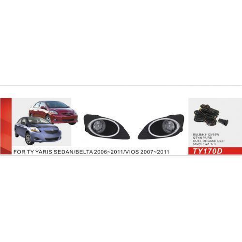 Фары доп.модель Toyota Yaris Sedan 2006-08/TY-170D-W/эл.проводка (TY-170D-W)