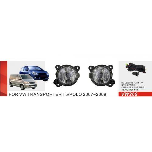Фары доп.модель VW Polo 2007-09/Transporter T5 -2010/Skoda Fabia/VW-269W/эл.проводка (VW-269W)