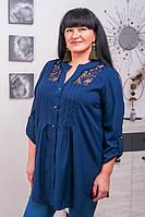 Красивая женская рубашка размер плюс Алика (54-72), фото 1