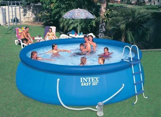 Надувной бассейн Intex Easy Set Pool 56912 457 см х 122 см c фильтрующим насосом и аксессуарами