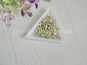 Бісер китайський рубка склярус 11 мм срібний