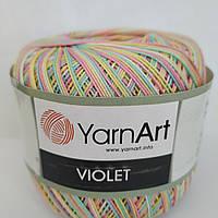 Турецкая пряжа для вязания YarnArt Violet Melange (виолет меланж)100% мерсеризованный хлопок - 502