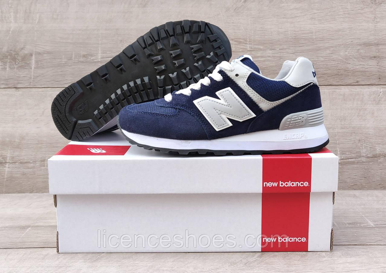 Подростковые кроссовки New Balance 574 Navy / Grey / White
