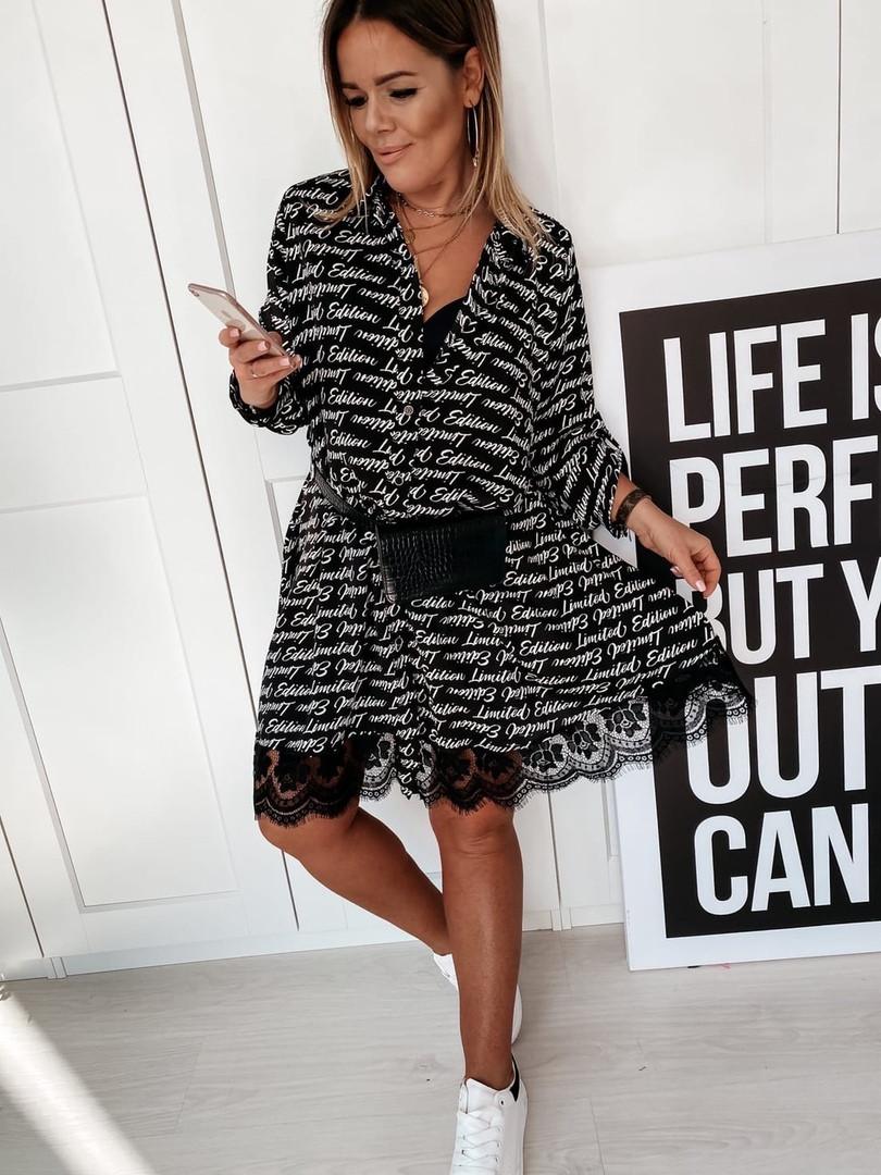 Платье рубашка с буквами норма и батал