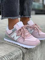 Подростковые кроссовки New Balance 574 New Pink / White / Grey