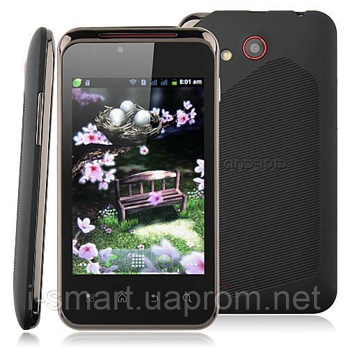 Smart Phone Android 4.0 MTK6515 1.0GHz WiFi 3.5 Inch Multi-touch Screen- Black