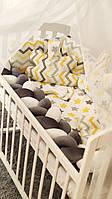 Детский постельный комплект в кроватку Косичка