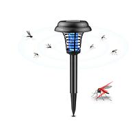 Антимоскитный уличный светильник на солнечной батарее,42х14см круглый