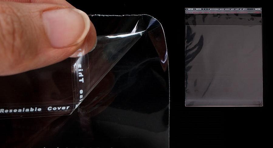 Пакеты с липкой лентой и клапаном прозрачные 15*20см+4см\25мкм, 1000шт\пач