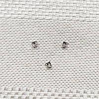 Концевик 1,5 мм для цепочки с шариками, родиевое покрытие