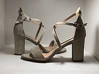 Высокое качество! Женские босоножки на среднем каблуке,с ремешком на щиколотке.35, 36,38,40.Vellena, фото 3