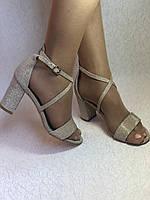 Высокое качество! Женские босоножки на среднем каблуке,с ремешком на щиколотке.35, 36,38,40.Vellena, фото 4