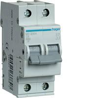 Автоматический выключатель 2P 6kA C-6A 2M Hager, фото 1