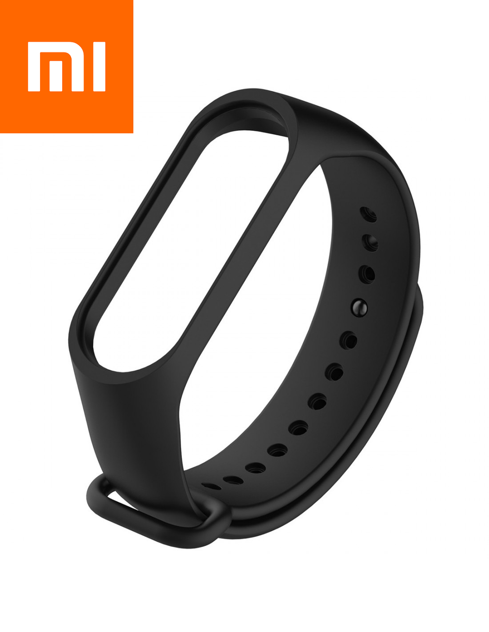 Ремешок для Xiaomi Mi Band 3 Черный Оригинальное Качество Black