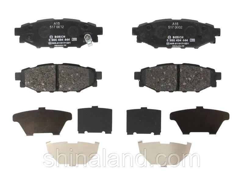 Тормозные колодки дисковые задние SUBARU BRZ, FORESTER, IMPREZA, LEGACY IV, LEGACY V, OUTBACK, XV; TOYOTA GT