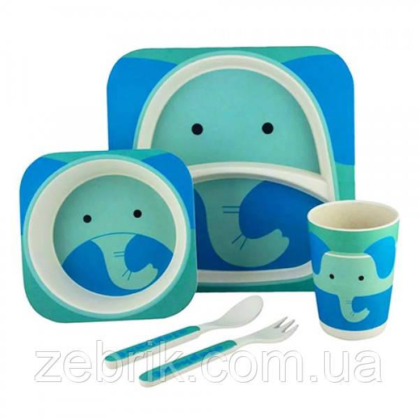 Набор детской бамбуковой посуды Слон
