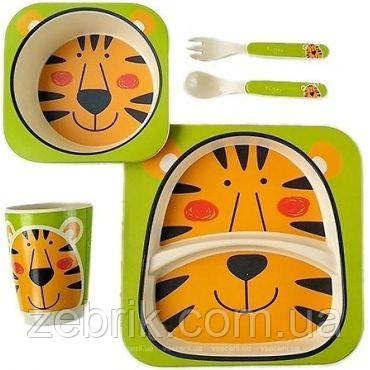Набір дитячої бамбуковій посуду Тигр