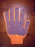 Перчатки  трикотажные с ПВХ точкой 101