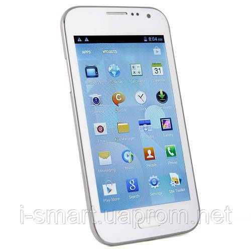 Smart Phone Android 4.0 MTK6515 1.0GHz TV WiFi 5.0 Inch Capacitive Screen- White