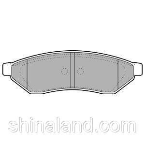 Тормозные колодки дисковые задние CHEVROLET EPICA, EVANDA 2.0/2.0D/2.5 03.05- Delphi OE 96496763
