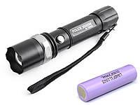 Тактический фонарик Police T8628/T862Bike-XPE, ЗУ 220V/12V, zoom, велокрепление, Box, LG 18650 3400 mAh