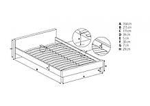 Кровать Evora (Halmar), фото 3
