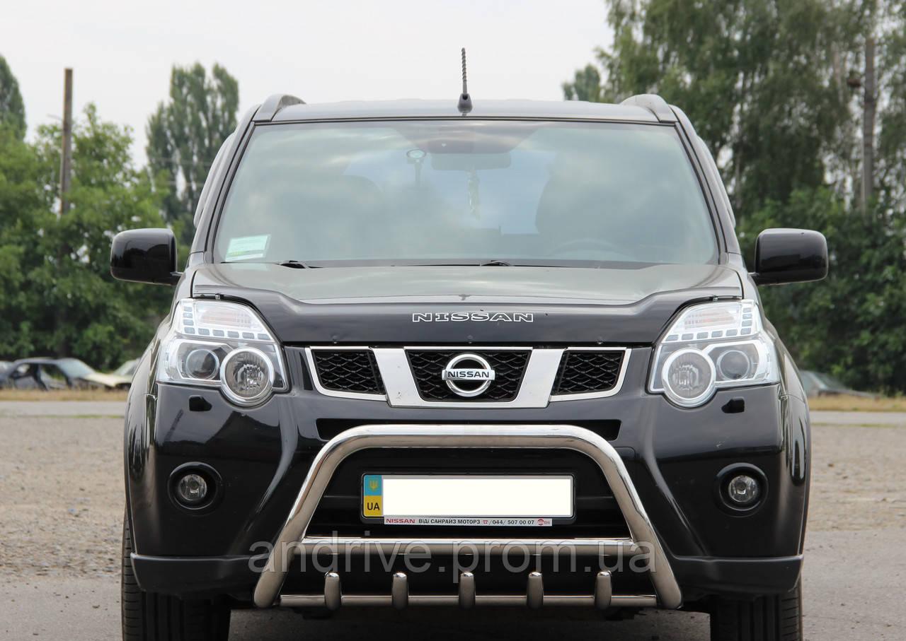 Кенгурятник с грилем (защита переднего бампера) Nissan X-Trail T31 2007-2013