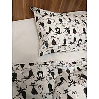 Комплект постельного белья в кроватку Кошки грация, фото 1