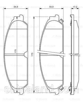 Тормозные колодки дисковые передние CHRYSLER 300 C; DODGE CALIBER, CHALLENGER; LANCIA THEMA 1.8-6.1 09.04-