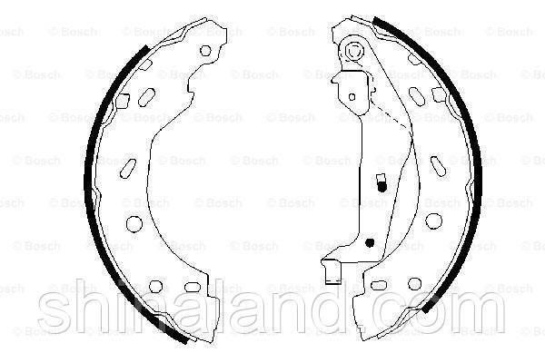 Тормозные колодки барабанные задние SMART CABRIO, CITY-COUPE, CROSSBLADE, FORTWO, ROADSTER 0.6/0.7/0.8D